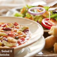 Olive Garden: Classic Lunch Combo – Soup, Salad & Breadsticks for Only $5