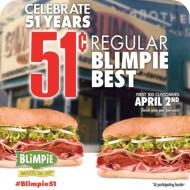 Grab a Regular Blimpie Best Sub Sandwich for Only 51¢ (April 2nd) #Blimpie51