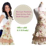 Marilyn Venetian Rose Apron, Just $9.99