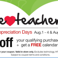 OfficeMax/Depot: 25% Off Coupon & Free Calendar During Teacher Appreciation Days