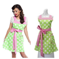 Flirty Aprons: Women's Betty Lime Polka-Dot Apron ONLY $9.99 Shipped + 30% Off Coupon On Other Items!
