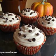 Pumpkin Spiced Chocolate Chip Marshmallow Cupcakes