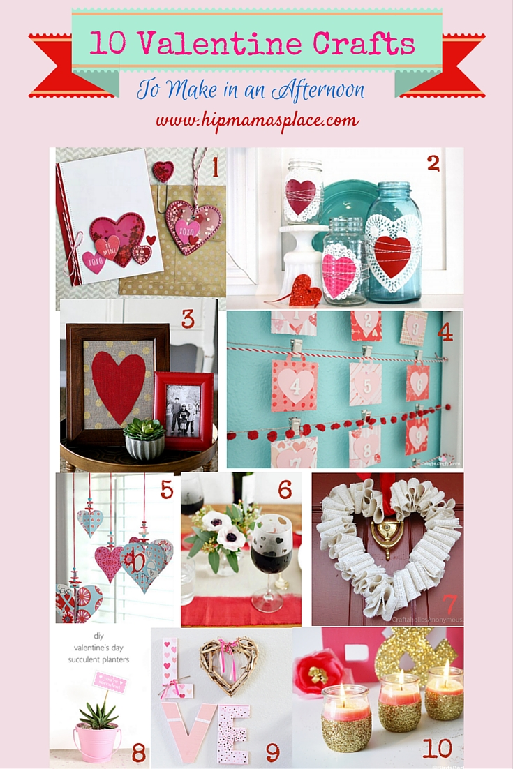 10 Valentine Crafts To Make In An Afternoon