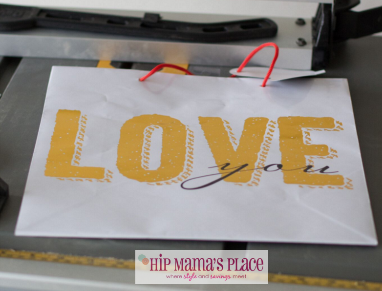 DIY Framed Love You Gift Bag Sign
