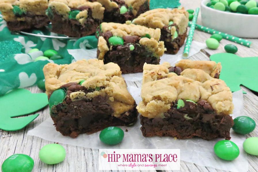 St. Patrick's Day mint brookies recipe!