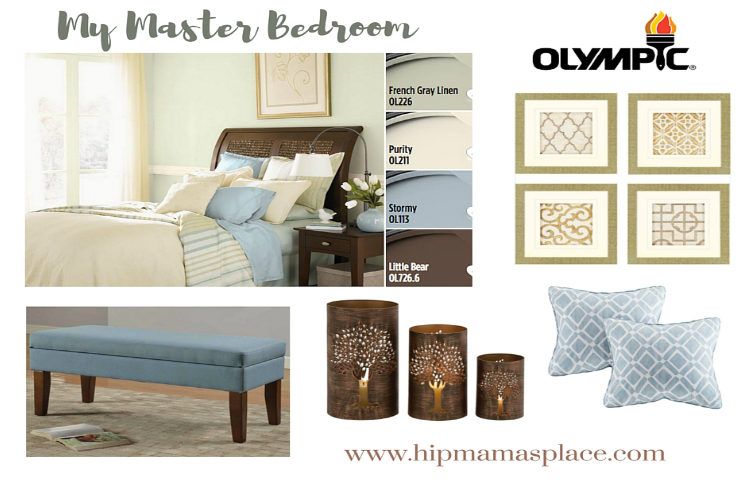 Updating Our Master Bedroom with Olympic Paints  #BringOnTheColor
