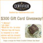 Fun Giveaway: $300 Certified Steak & Seafood Gift Card