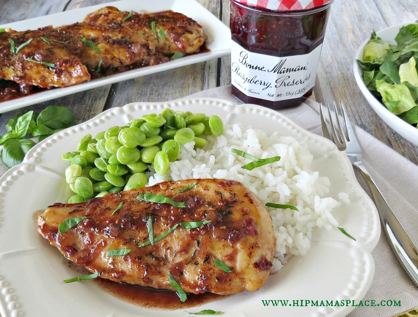 Raspberry Balsamic Glazed Chicken