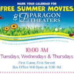Paragon Theaters: FREE Kids' Summer Movies Starting June 21st