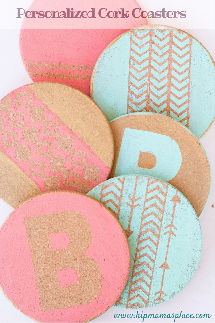 37110d00bef Fun and Festive DIY Personalized Cork Coasters