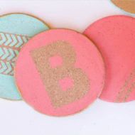 Personalized Cork Coasters DIY