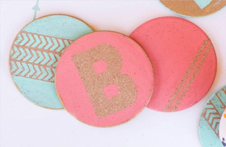Personalized Cork Coasters DIY