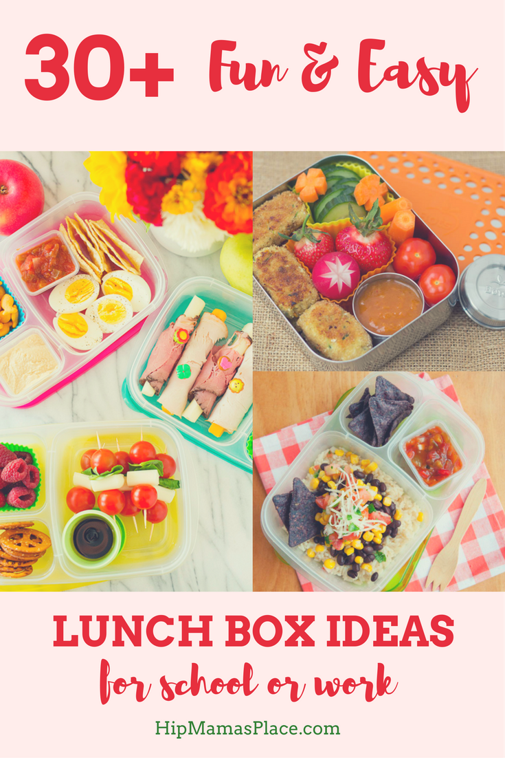 Here are 30+ fun, easy and delicious lunch box ideas for school or work!
