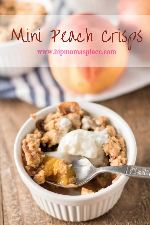 Mini Peach Crisps