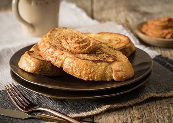 French Toast with Pumpkin Spiced Cream Cheese