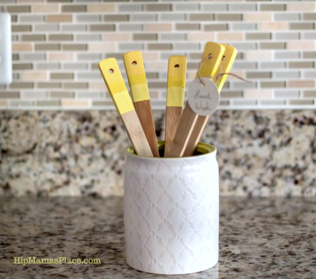 DIY Painted Kitchen Utensils
