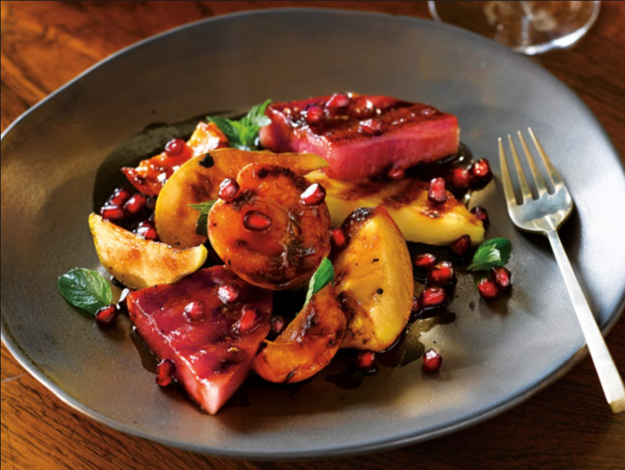 Grilled Fruit Salad With Pomegranate Arils