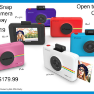Polaroid Snap Touch Camera Giveaway