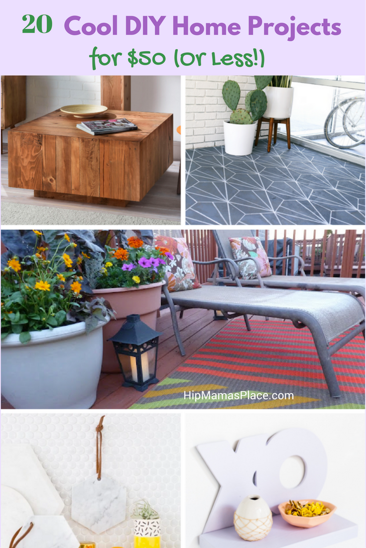 20 cool diy home projects for 50 or less