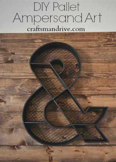 DIY Ampersand Art