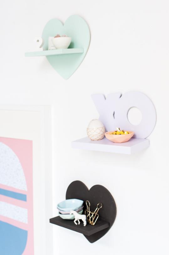 DIY Mini Shelves