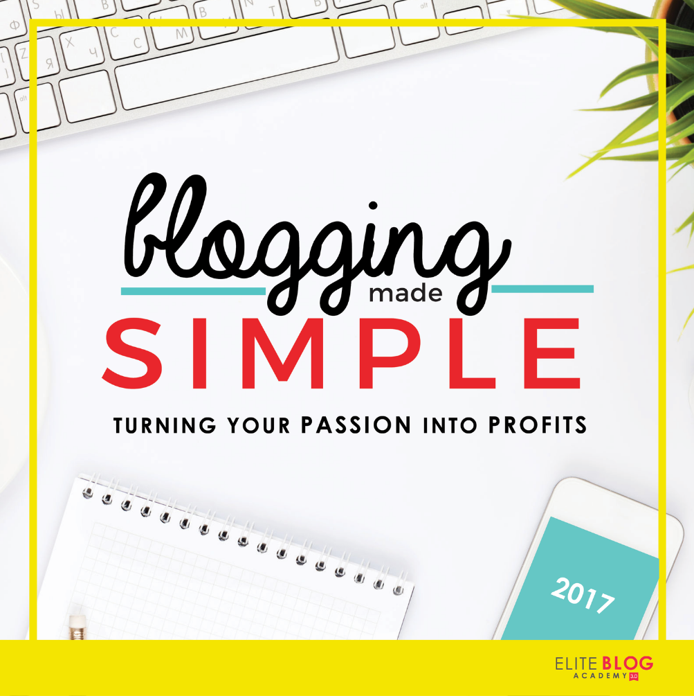 FREE Blogging Made Simple course from the Elite Blog Academy