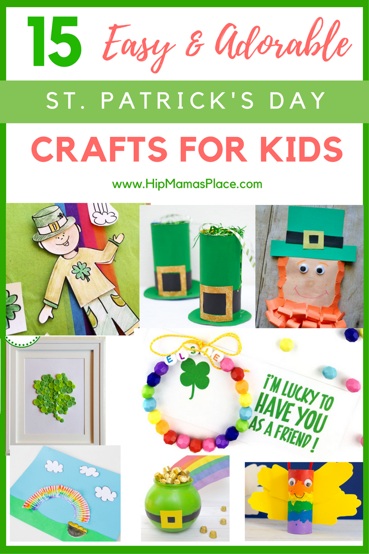 Check out these 15 easy and adorable St. Patrick's Day kids crafts that are easy and fun!