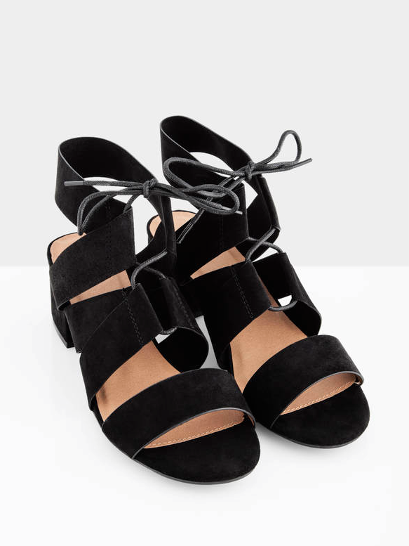 Ditch the athletic shoes in favor of a pretty lace-up sandal that complements your feet, legs, and outfit!
