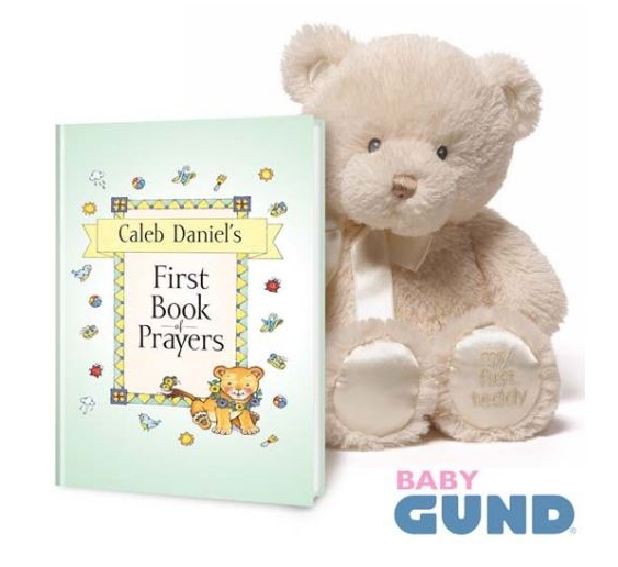 My First Book Of Prayers Gift Set with Baby Gund Bear Plush