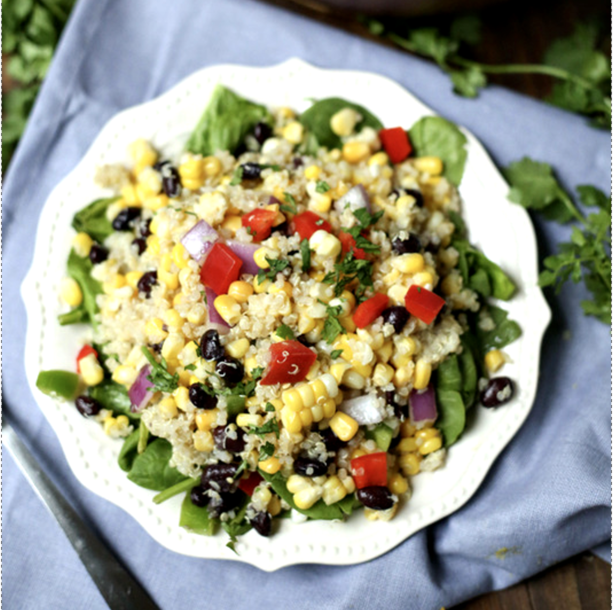 Sweet Corn and Bean Quinoa Salad