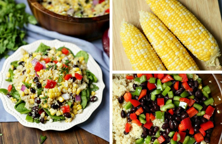 Sweet Corn and Bean Quinoa Salad with Sunshine Sweet Corn