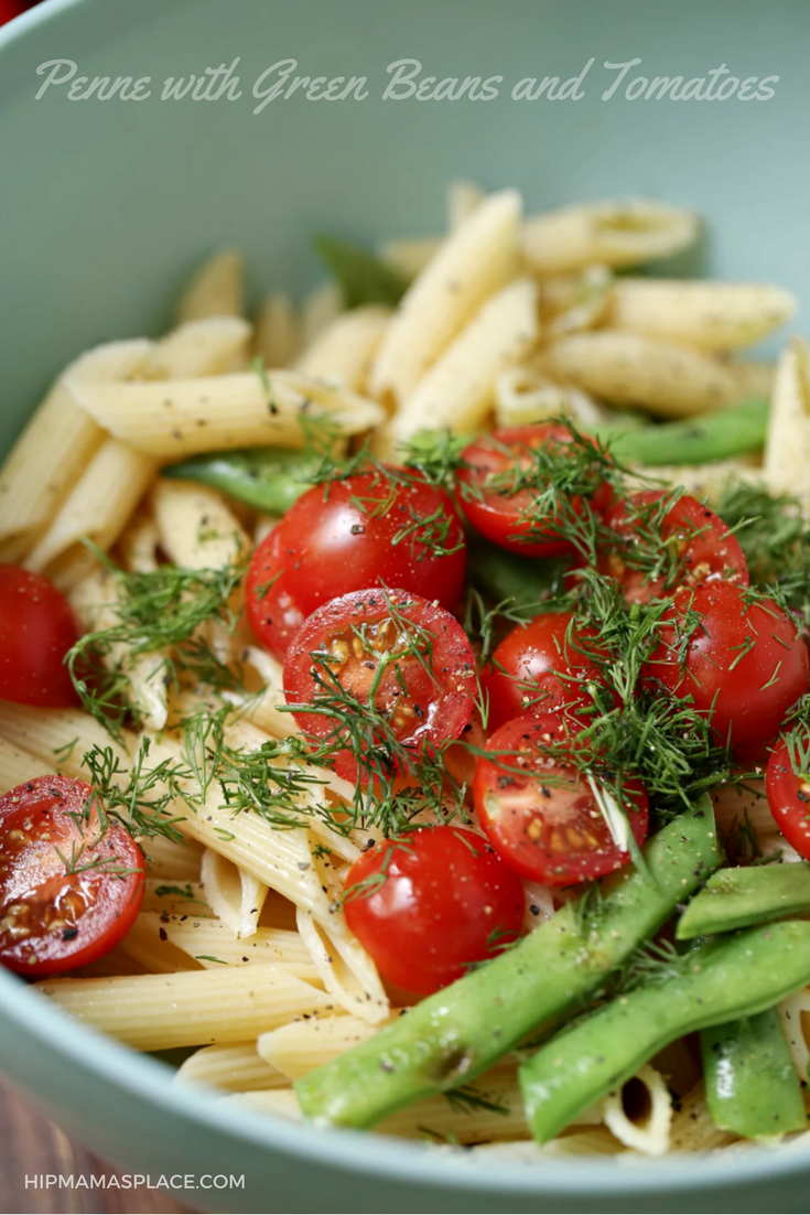 Penne with Green Beans and Tomatoes... perfect for spring and summer!