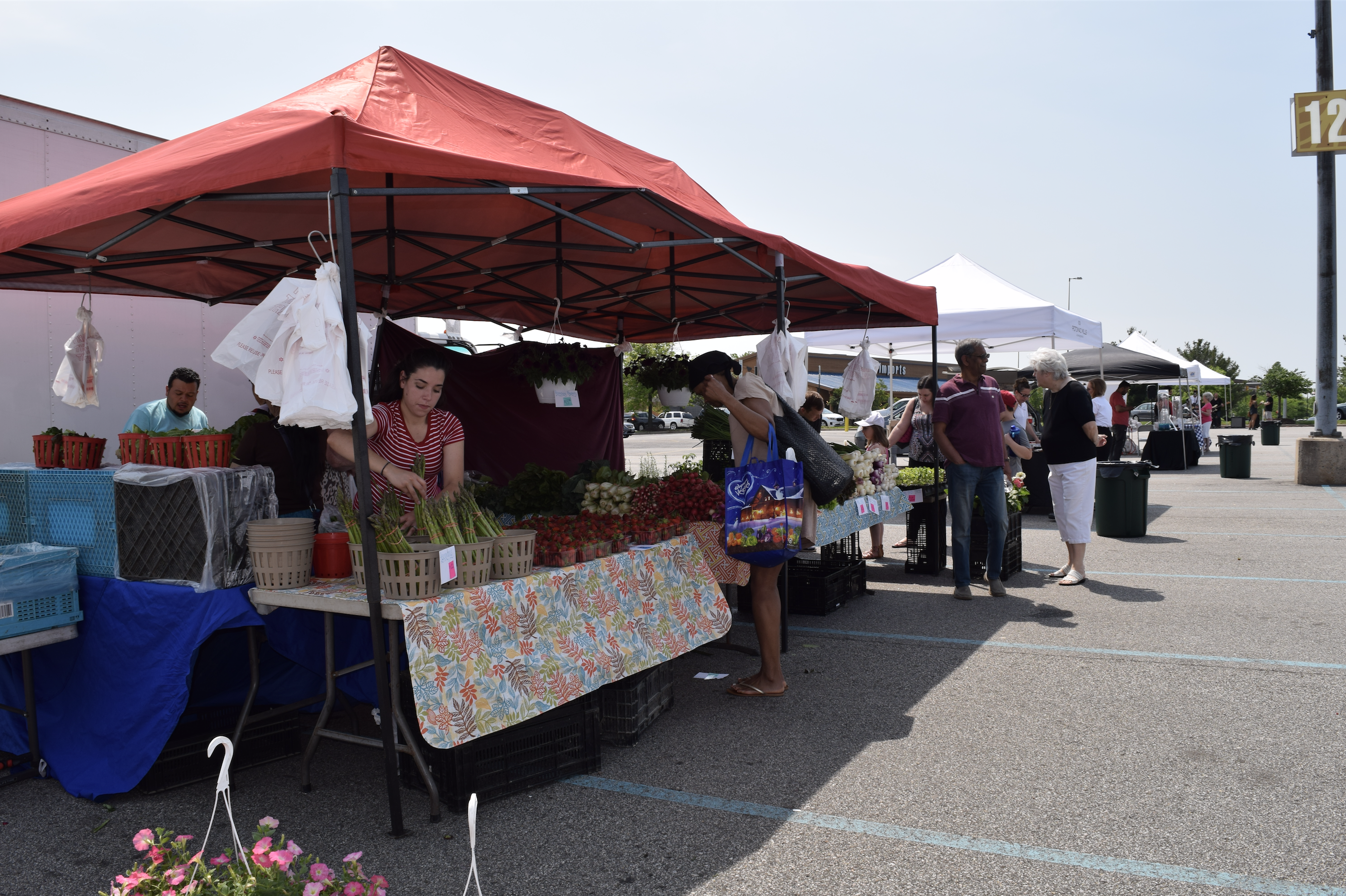 """The Market at Potomac Mills"" - an outdoor farmers market in Woodbridge, Virginia"