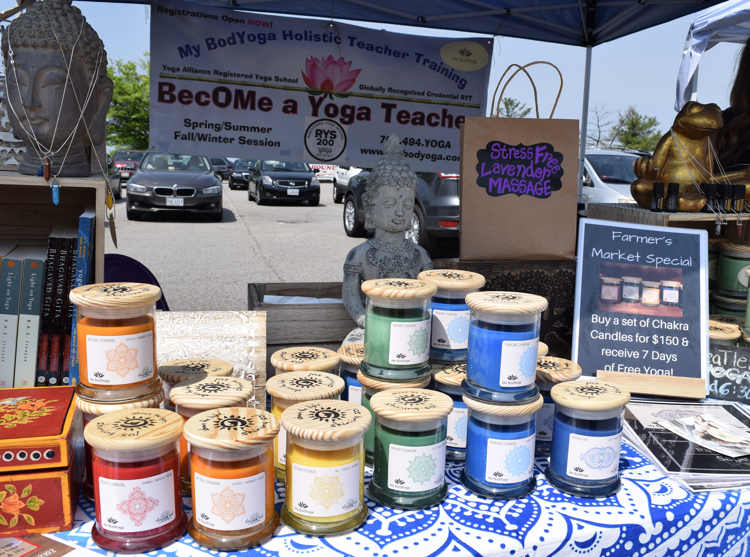 "Natural candles, essential oils and other cool stuff at ""The Market at Potomac Mills"" in Woodbridge, Virginia, open from late April to late October, 2017."
