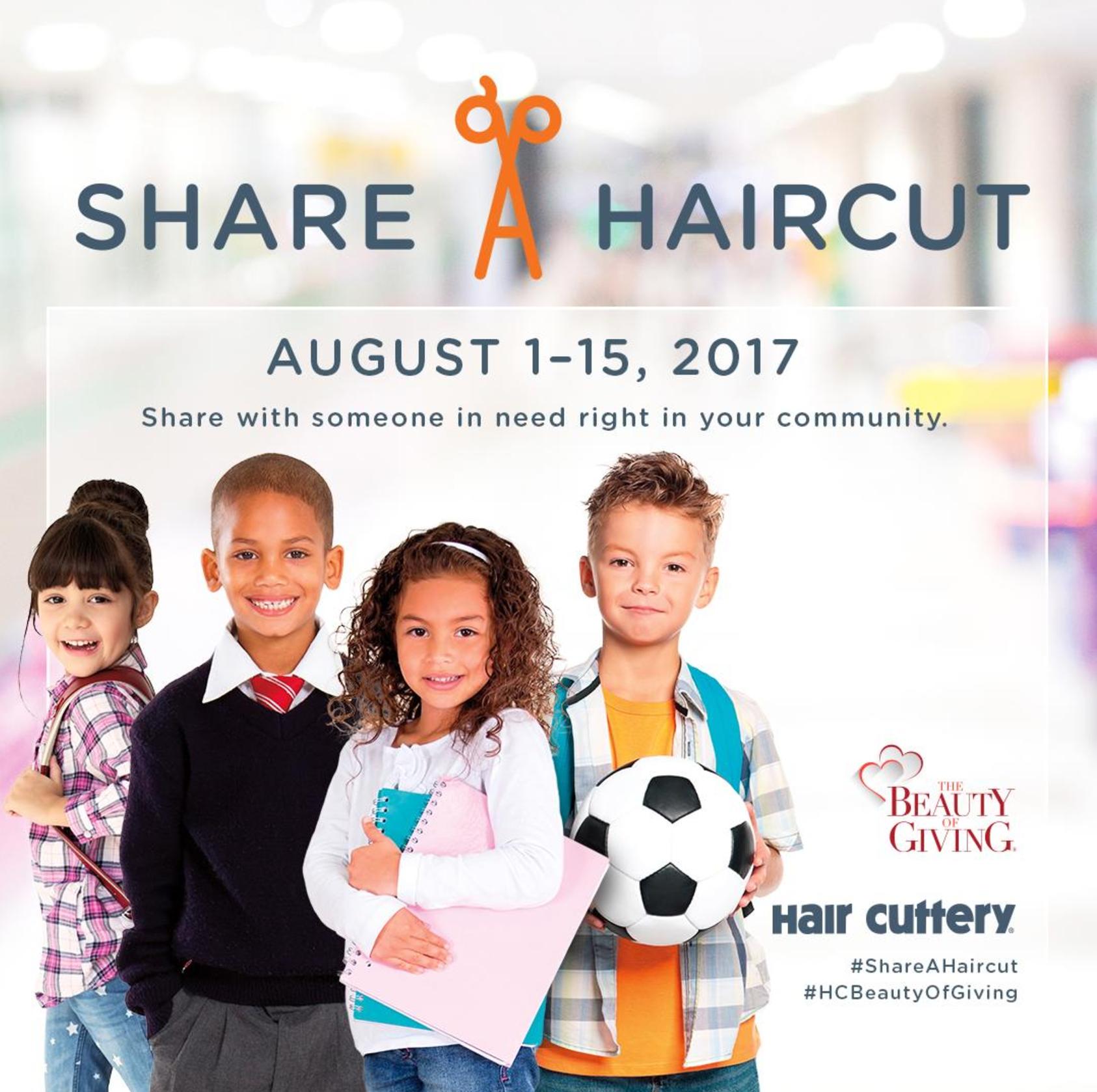 """Hair Cuttery """"Share-A-Haircut"""" program runs from August 1-15, 2017"""