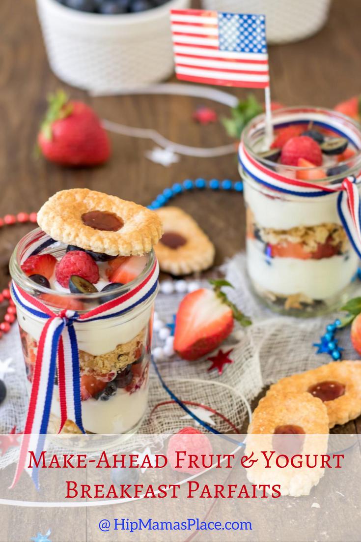 Make-Ahead Fruit and Yogurt Breakfast Parfaits