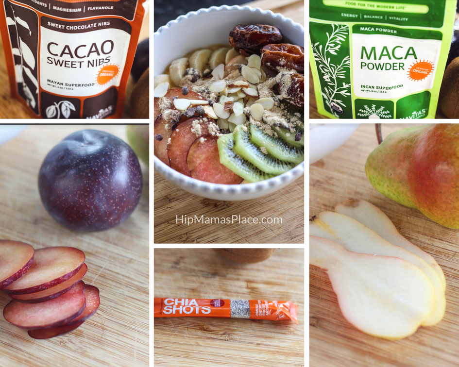 Pumpkin Yogurt Bowl with Fruits, Nuts and Grains