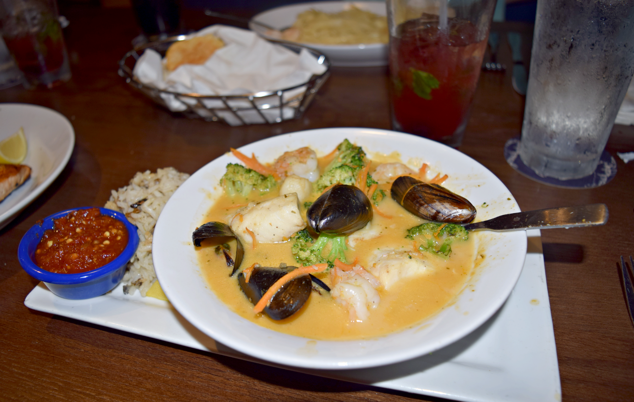 """Thai-Style Seafood Bowl from Red Lobster's new """"Globally Inspired"""" menu - Manassas, Virginia"""