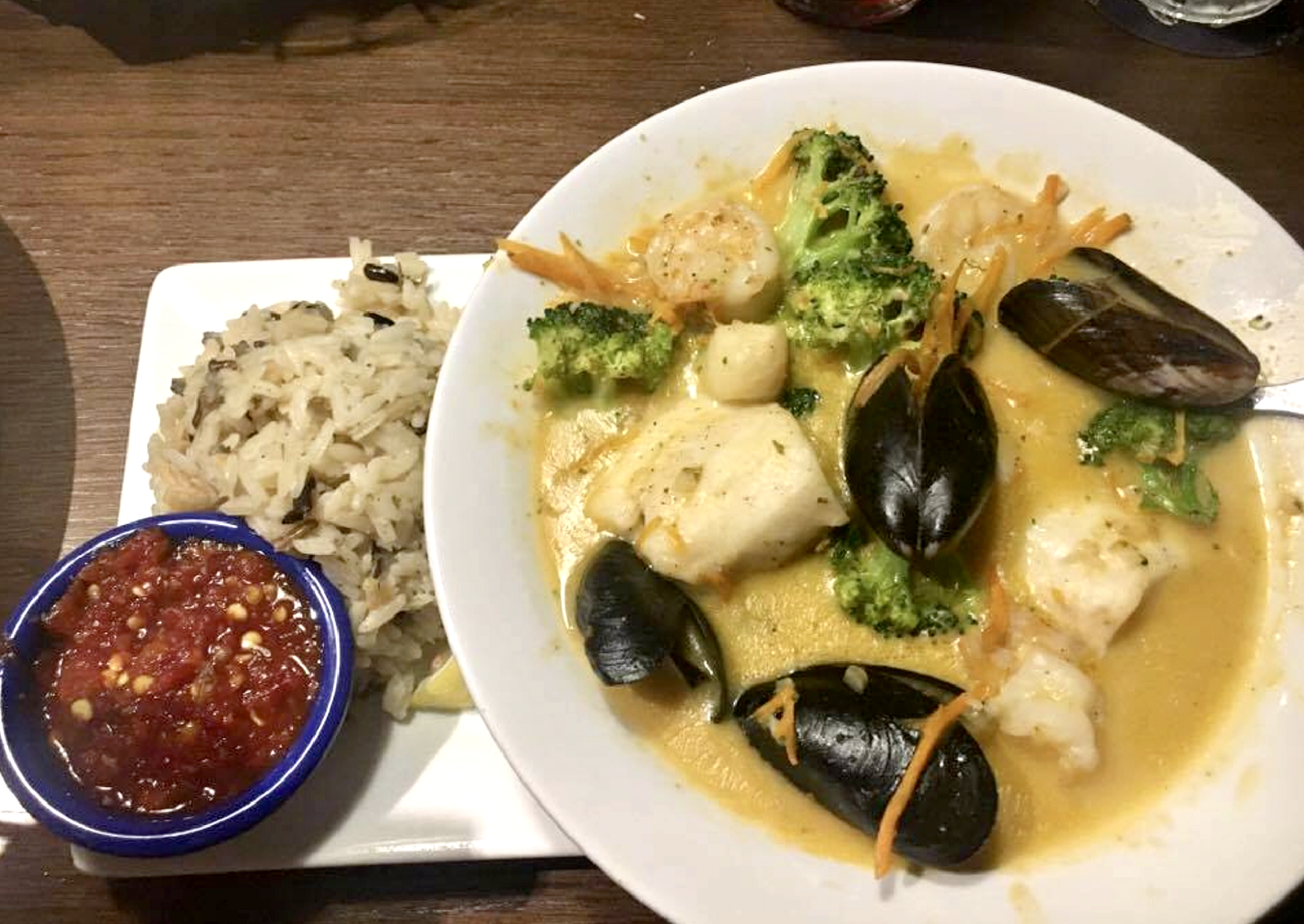 """Super enjoyed my Thai-Style Seafood Bowl from Red Lobster's new """"Globally Inspired"""" menu - Manassas, Virginia"""