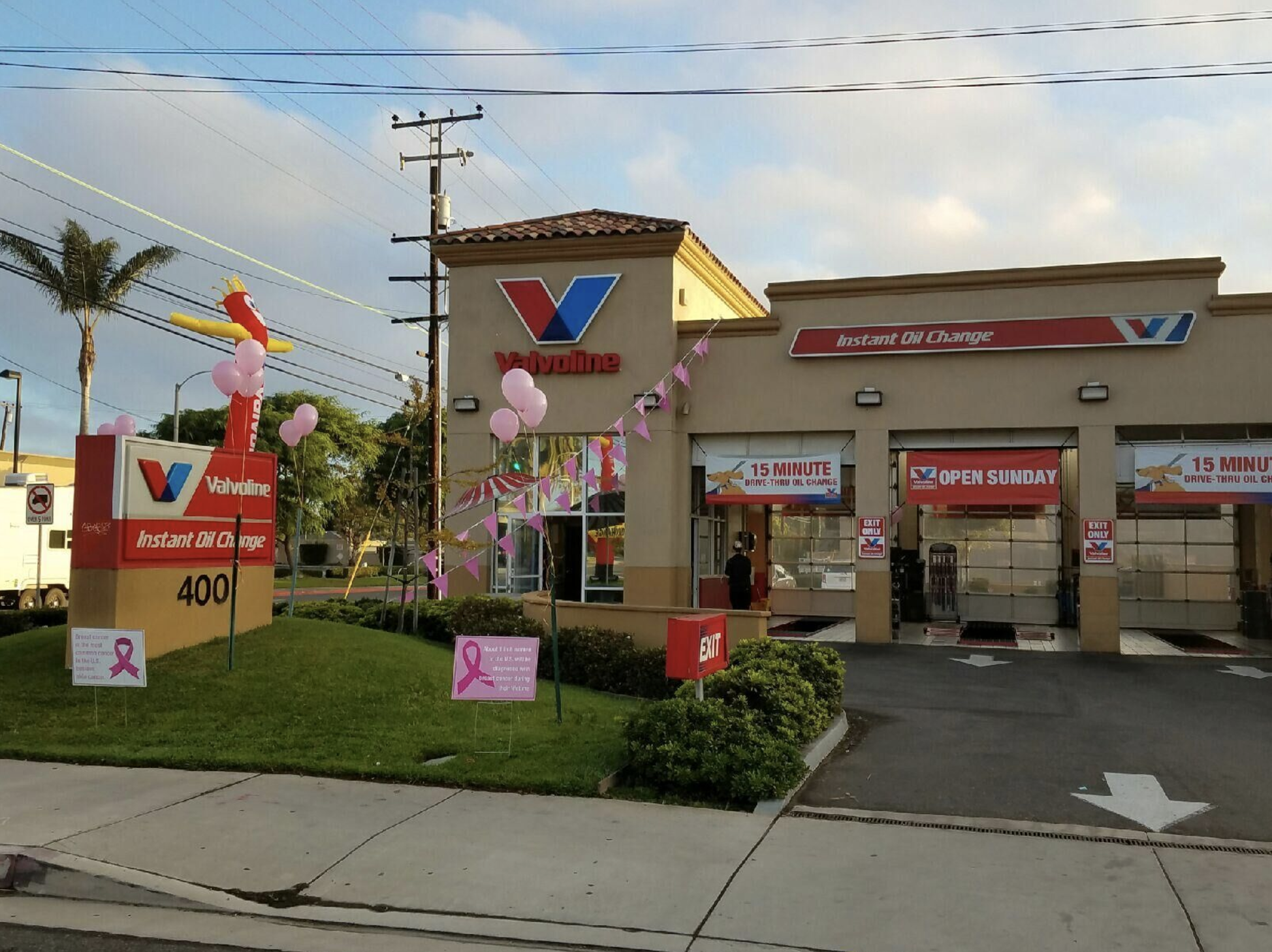 You can get a full service 15-minute drive-thru oil change at Valvoline Instant Oil Change and no appointment is necessary!