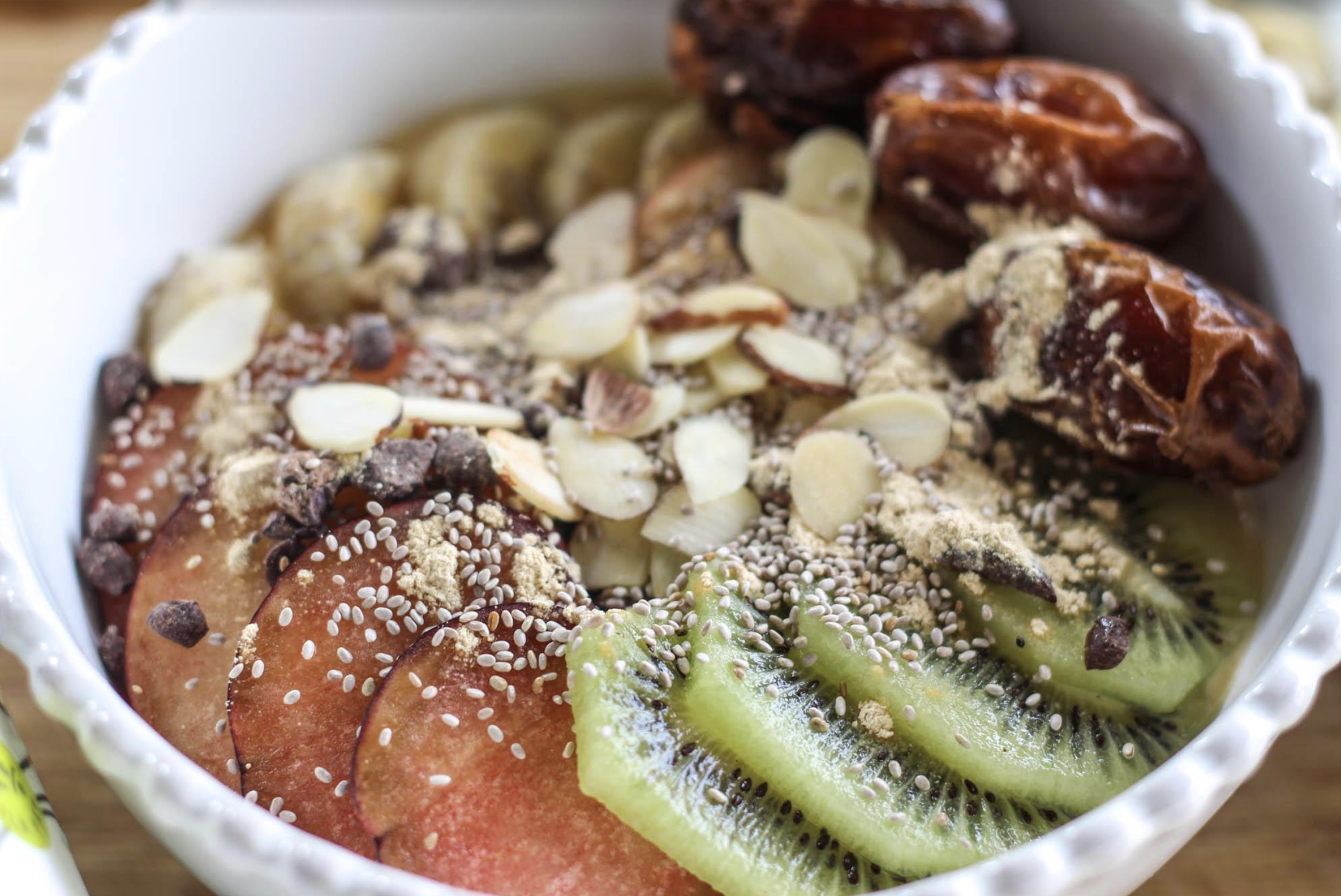 Pumpkin Yogurt Bowl with Fruit, Nuts & Grains