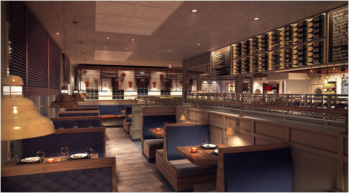 Red Lobster in Manassas, Virginia: There are multiple dining areas with flexible seating to accommodate both large and small groups andare refreshed with new paint and finishes, nautical touches, and modern tile floors.