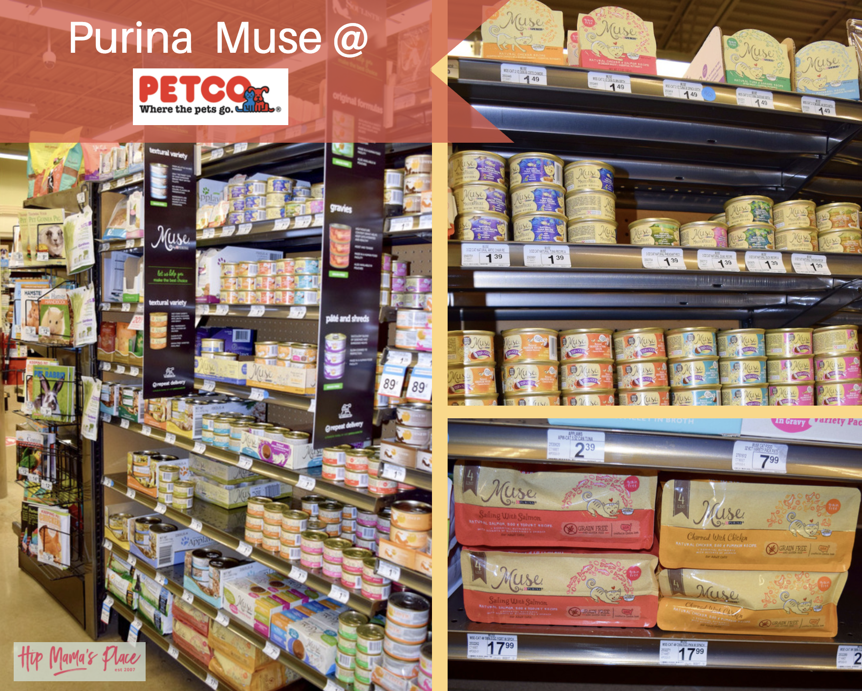 We love the Purina Muse line of wet and dry cat food at Petco!