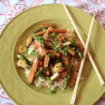 Mori-Nu Silken Tofu Review + Honey-Sesame Tofu Veggie Stir-Fry Recipe