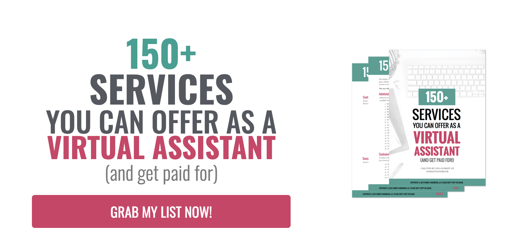 150+ services you can offer as a virtual assistant