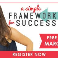 "Invitation for Bloggers: FREE Webinar on ""A Simple Framework for Success"" + Live Q&A with EBA Creator, Ruth Soukup"