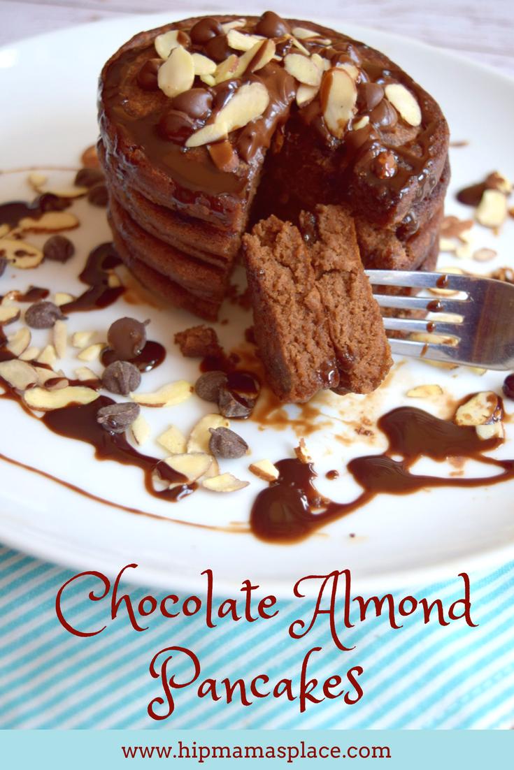 Chocolate Almond Pancakes made with International Delight® Almond Joy™ creamer