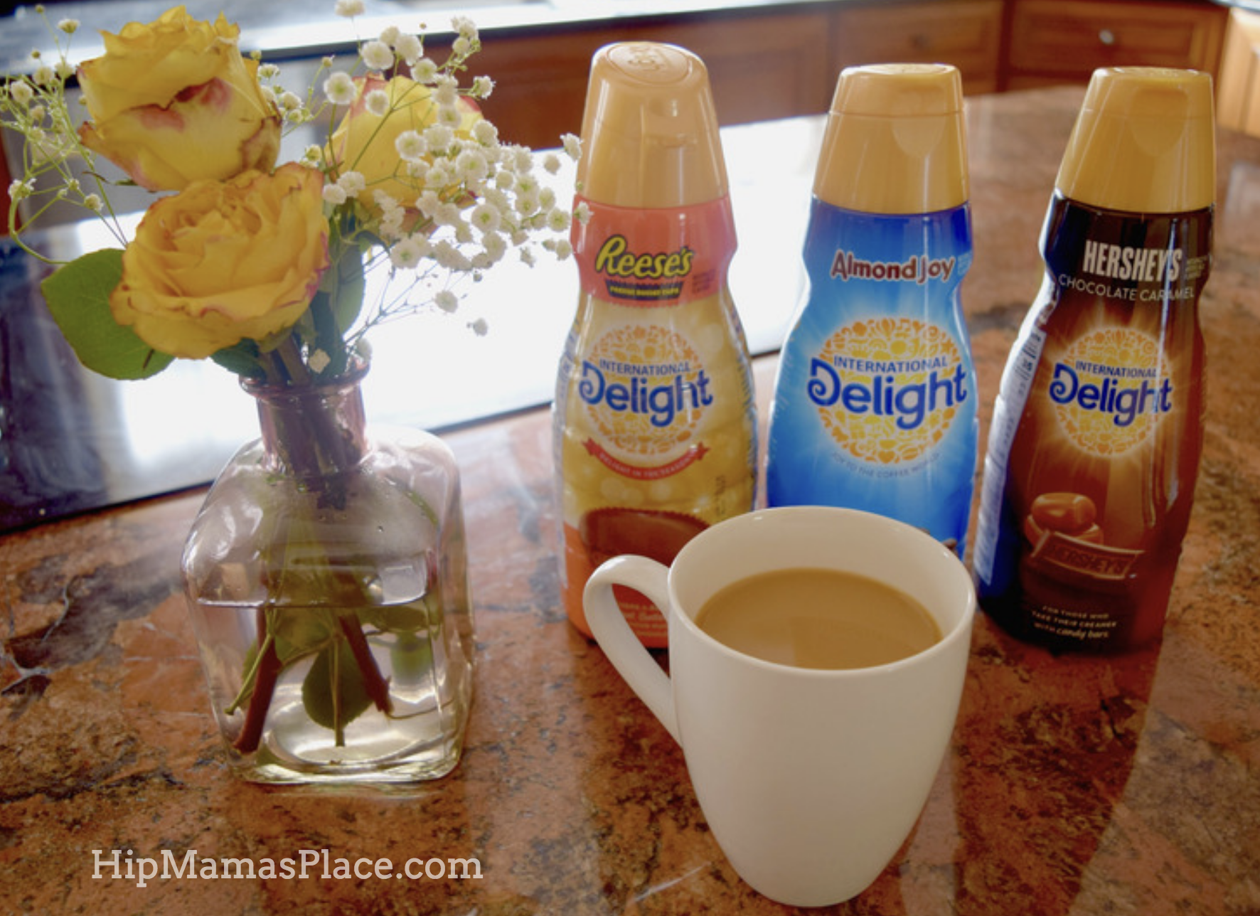 morning coffee with International Delight coffee creamers