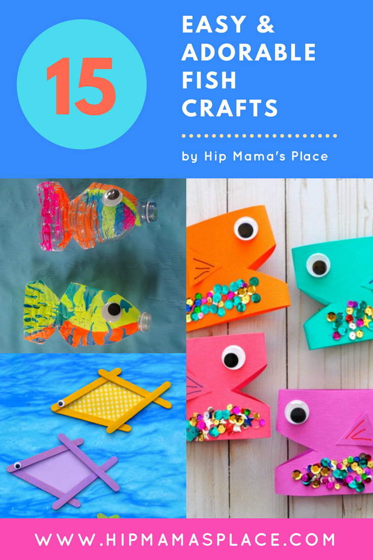 15 Fun, Easy and Adorable Fish Crafts To Make With Kids This Summer #summer #summercrafts #kids #kidscrafts