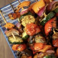 Balsamic Grilled Veggie Kebabs